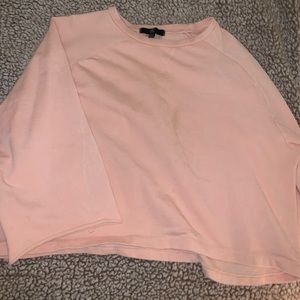 Cute, light blush pink, cropped sweatshirt